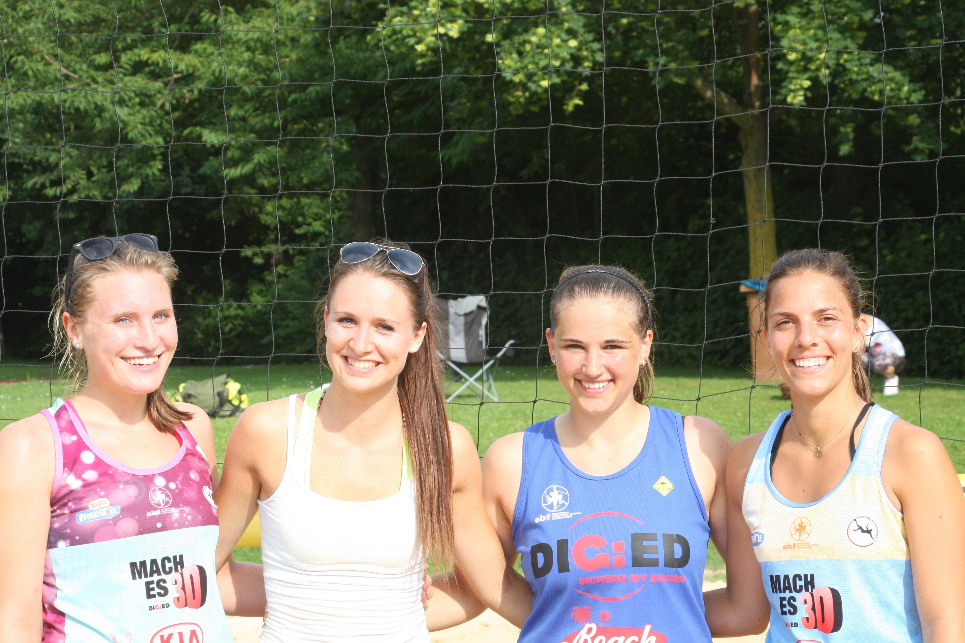 Die Finalisten des Damenturniers